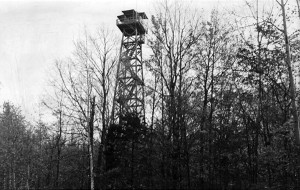 DNR fire tower near Arnold, Mich., circa 1965.