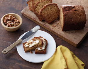 Top a slice of banana bread with a smear of rich, creamy spreadable cheese, such as The Laughing Cow Creamy Swiss, and add a crunchy protein punch with walnuts.