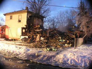The previous house at 40 E. Maple was destroyed in a fire five years ago. Post photo by J. Reed.
