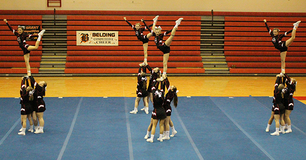 Cedar Springs Varsity Cheer took first-place at their own invitational last weekend.