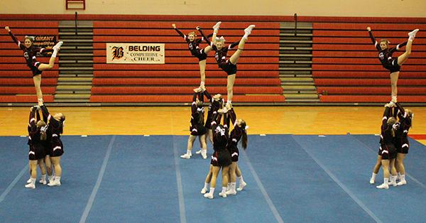 Cedar Springs Varsity Cheer took first-place at their own invitational last weekend.