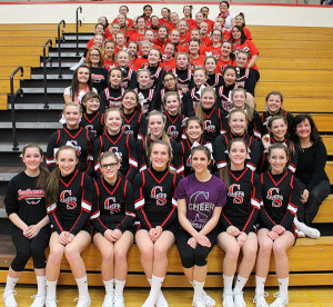 Cedar Springs Cheer teams won championships at all levels: Middle School, Junior Varsity, and Varsity.