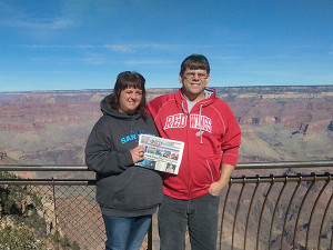 Dean and Kris Anderson at the Grand Canyon.