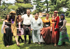 Chamber members in royal attire at last year's festival.