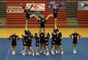 Cedar Springs Varsity Cheer took fourth place in the conference championship.