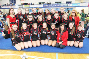 The Cedar Springs Varsity Cheer team took fifth out of 14 teams at Districts.