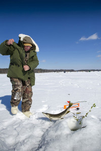 Tip-ups have traditionally been associated with northern pike fishing.