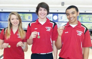 Rebecca Williams, Kyle Knarr and Jacob Cartwright made All conference in bowling.