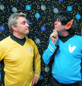 Pictured are Brian Thomas as Captain Curt and David Block as Mr. Soc.
