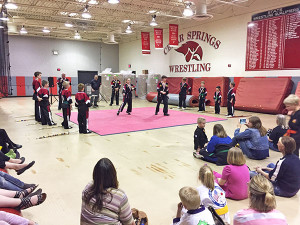 A martial arts demonstration was performed by students of American Martial Arts.