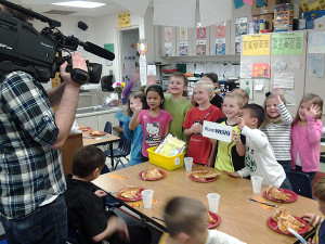 WGVU honored Graf and her class with a pizza party on Thursday, April 23.