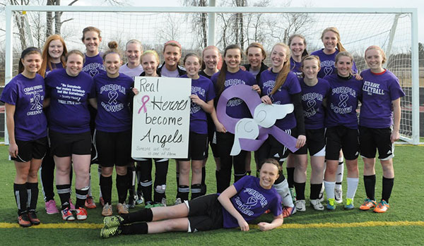 The Cedar Springs Varsity Soccer Team will play the Rockford Rams in a purple game on April 16 to commemorate the memory of Scott Hazel.