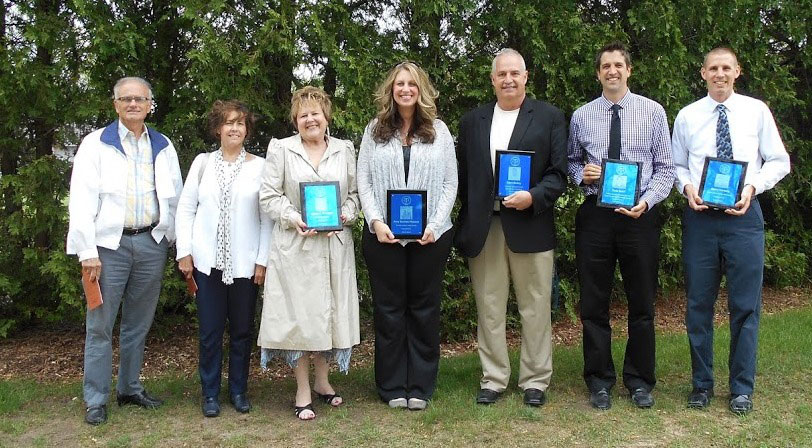 CTA Wall of Honor Members (L-R): Dr. DeWayne Coxon, Lexie K. Coxon, Alecia J. Terpstra, Amy Burton-Massey, Gary Bailey, Kyle Bohl, Gerry Verwey