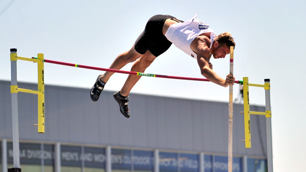 Justin Balczak captured the 2015 NCAA Division II decathlon national championship, picking up his second individual national title. Photo by Joe Reinsch, Asuza Pacific University.