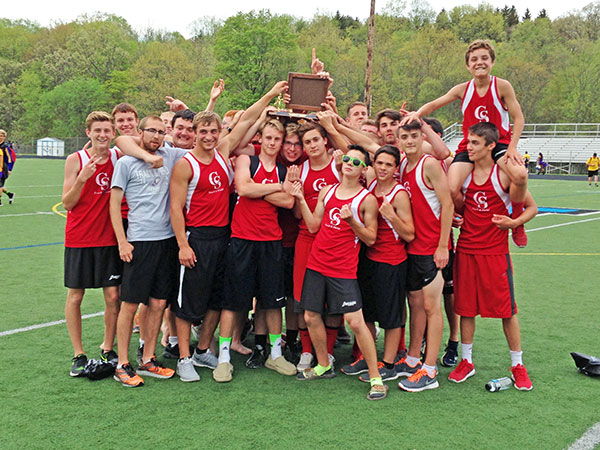 The Red Hawk boys track team won the OK Bronze Championship last Friday. Courtesy photo.