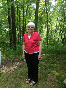 Ruth McCarty, 80, was the first to register for the 5k trail run/wallk at Blandford Nature Center.