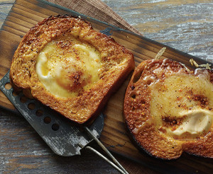 Cedar Plank Grilled Egg in Toast