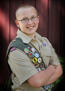 Boy Scout Jacob Swinehart recently completed his project, one of the steps needed on the road to becoming an Eagle Scout.