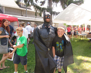 Kids enjoyed superheroes at the Cedar Springs Public Library's kick off program. Post photo by J. Reed.