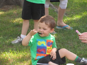 Kids enjoyed ice cream at the Cedar Springs Public Library's kick off program. Post photos by J. Reed.