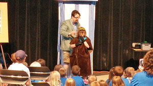Mr. Pete from the Kalamazoon Nature Center talked about the superpowers of animals in our own backyards. Courtesy photo.
