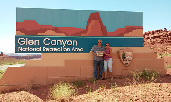 Tom and Char Dubridge of Sand Lake travelled to many parts of Colorado and Utah earlier this month. This picture was taken at Glen Canyon, Lake Powell, Utah.