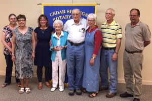 The family of Jack and Marge Clark (center) were in attendance to see them receive their award.