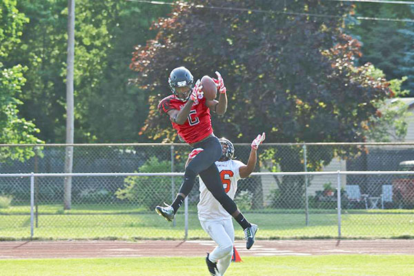 The West Michigan Hawks stepped up their game last Saturday against the Wayne County Bengals with 10 turnovers. Photo by K. Alvesteffer.