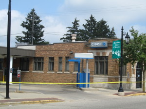 Chase Bank, located at 7 Main Street in Cedar Springs, was the scene of an armed robbery Friday morning, August 14. Post photo by J. Reed.