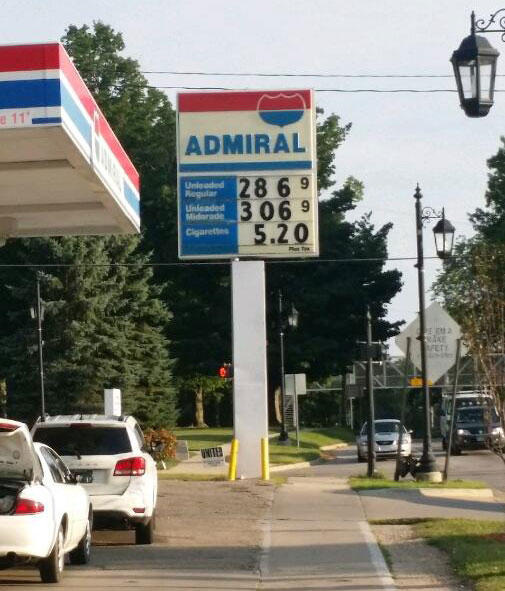 Gas prices in Cedar Springs jumped twice last week to just under $3.00/gallon, but had dropped down to $2.86 by Wednesday.