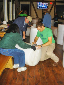 This photo was taken at a rain barrel workshop in Rockford.  Cedar Springs residents now have a chance to make their own.