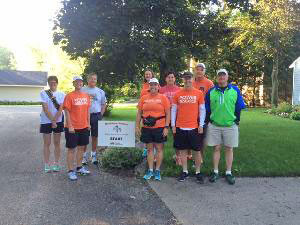 The Mackinaw Striders made a stop in Cedar Springs on August 26 on their walk from Grand Rapids to the Mackinac Bridge.