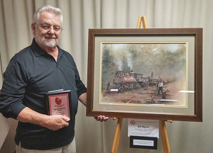 Bill Byers came in second place for his 2D artwork, which is on display at  Framed Images