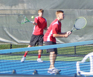 Cedar Springs #2 doubles Ethan Brown and Nick Hibbs.