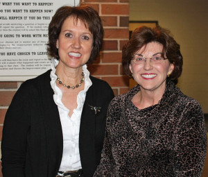 Author Teresa Irish with Cedar Springs resident Claudia Mabie.