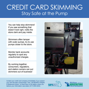 MDARD and MPA are offering these consumer tips to protect themselves at the pump.