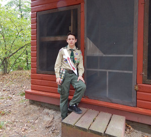 Nicholas Bromm, of Pierson, completed his Eagle Scout project at Camp Greenwood.