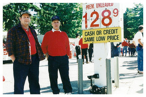 Remember when gas prices were only a little over a dollar a gallon? Ed Bremmer gave us this photo taken Red Flannel Day, 1994, when gas was $1.28 for premium. Current price in Cedar Springs at press time is $2.43 per gallon/reg.