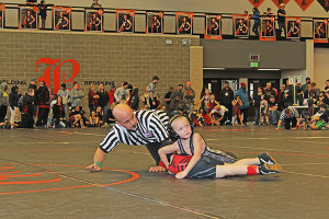 Trevor Marsman took fourth in the 2003-2004 70-75 pound weight class. Photo by J. Troupe.