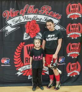 Six-year-old Caleigh Wood and 13-year-old Brooklynn Wright both both placed in the War of the Roses tournament in Loveland, Colorado last weekend.