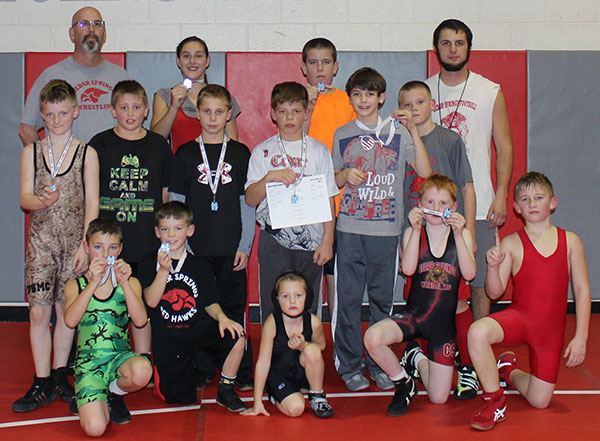 Fifteen Cedar Springs Youth wrestlers took home medals last Sunday.