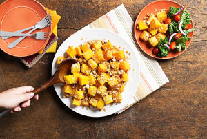 Roasted Squash with Crunchy Pumpkin Topping