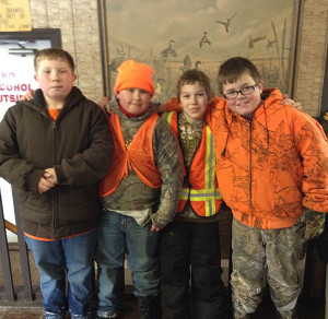 Participants in the Flat River State Game Area's 2015 youth rabbit hunt. This year's hunt is set for Jan. 16.