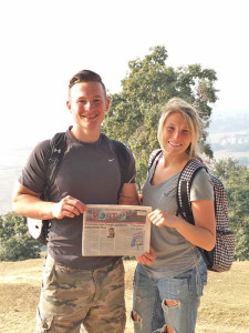 James Putnam, a 2011 graduate of Cedar Springs High school, and his wife Shelby in Nepal.