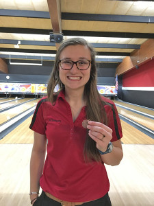 Top 10 girls bowlers for the day included Allyson Marvel.