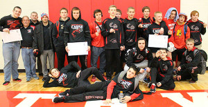 The Red Hawks finished second in the OK Bronze conference. Photo by B. Chong.