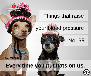 Read about things that raise your blood pressure at www.heart.org/ bpraisers.