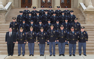 New officers at graduation.
