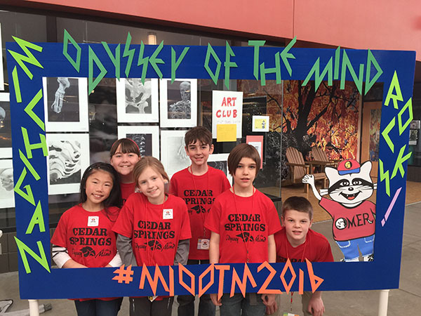 Members of the Odyssey of the Mind team.