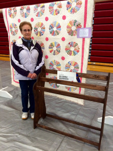 Nancy Flierman with her first place quilt.